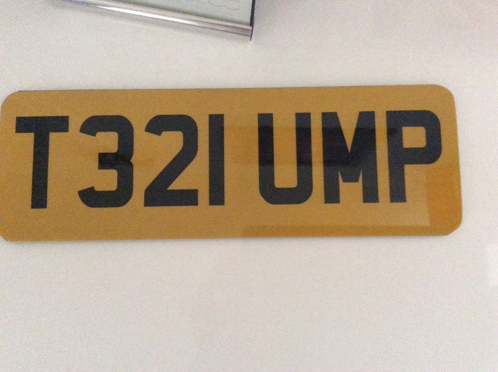 Number plate for sale T321UMP