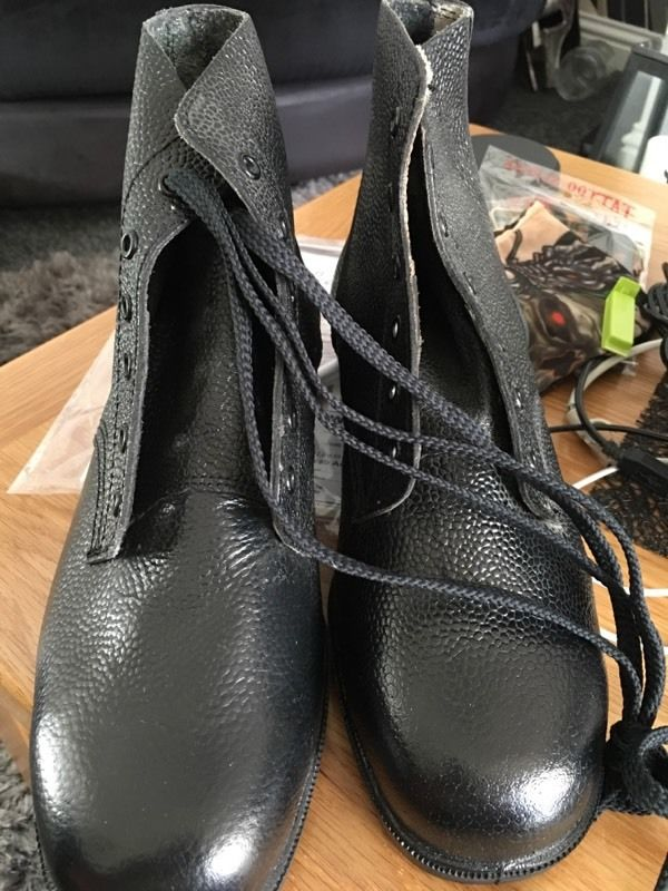 Brand new never used steel toe cap boots with laces