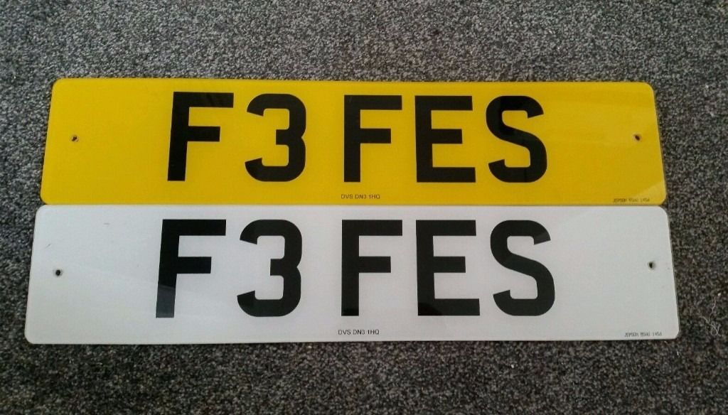 Private Cherished Number Registration Plate Fiona Fe Fe Fi Fi Fizz F3 FES Fe's