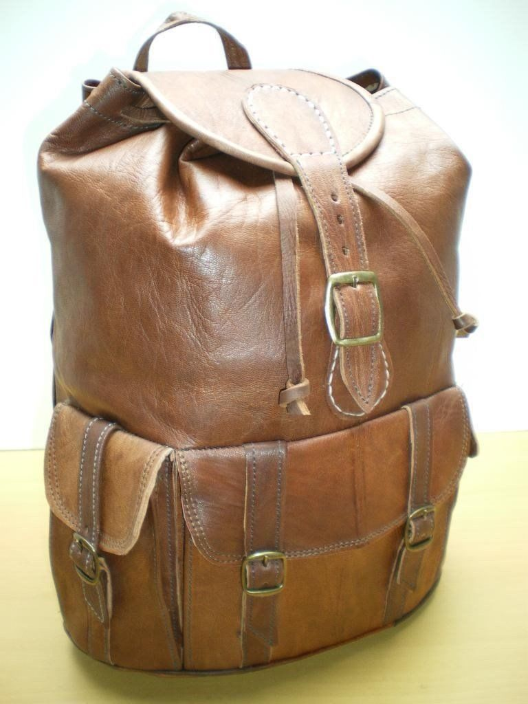 VINTAGE GENUINE LEATHER RUCKSACK BACKPACK