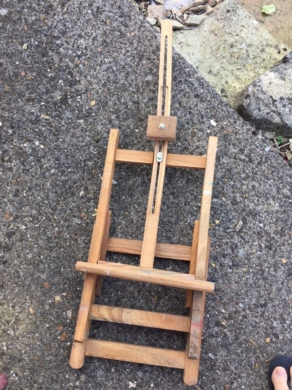 Artists wooden easel