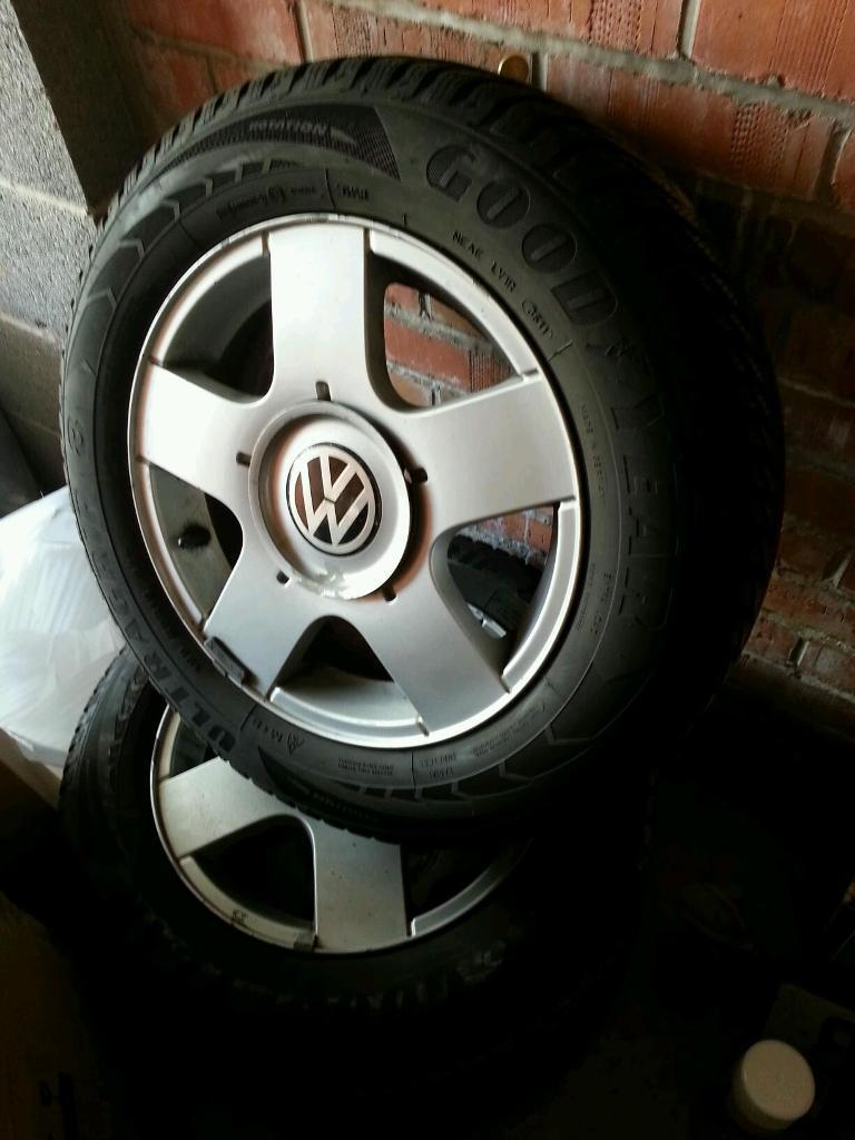 VW Golf MK4 Avus Wheels and Goodyear Winter Tyres - fit A3, Leon, Bora etc