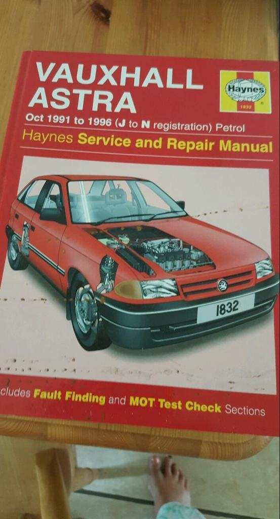 Haynes vauxhall astra oct1991 to1996 j to n petrol