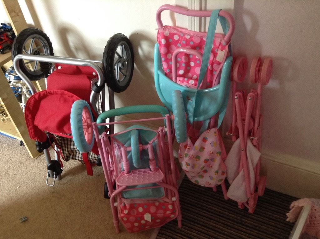 Large collection of baby doll stuff