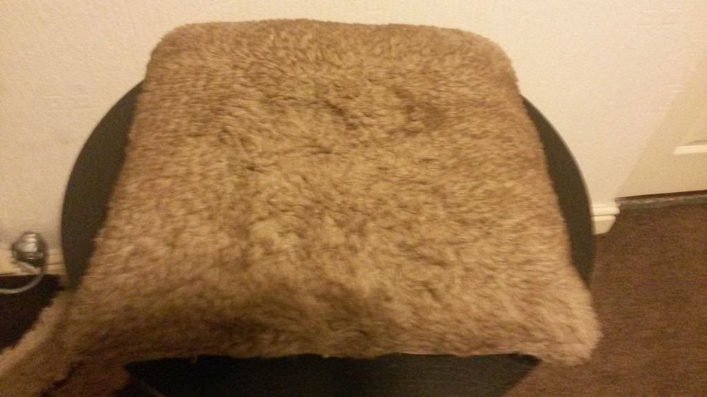john lewis modern stylish brown shaggy brown large cushion and white cushion