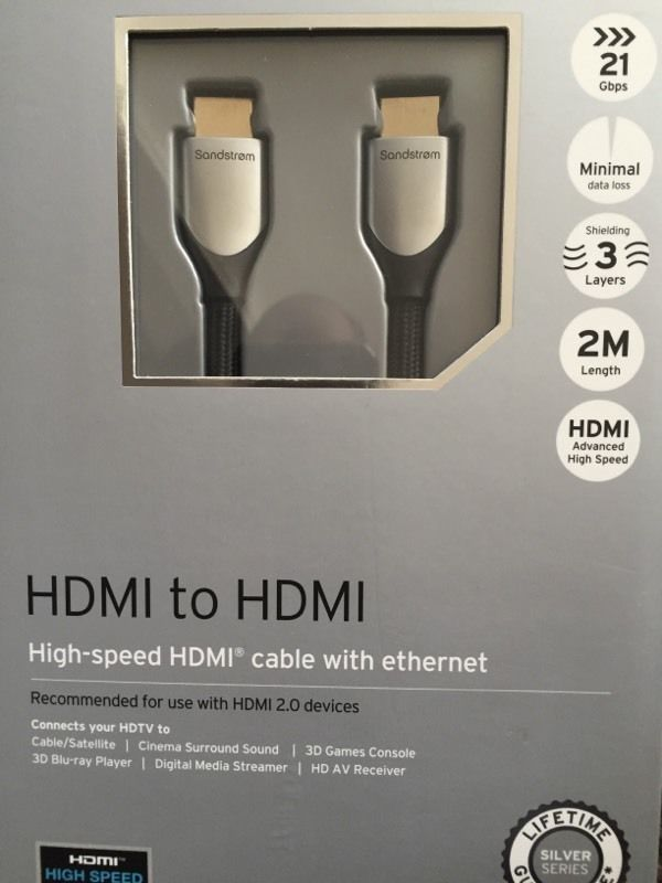 HDMI silver series cable