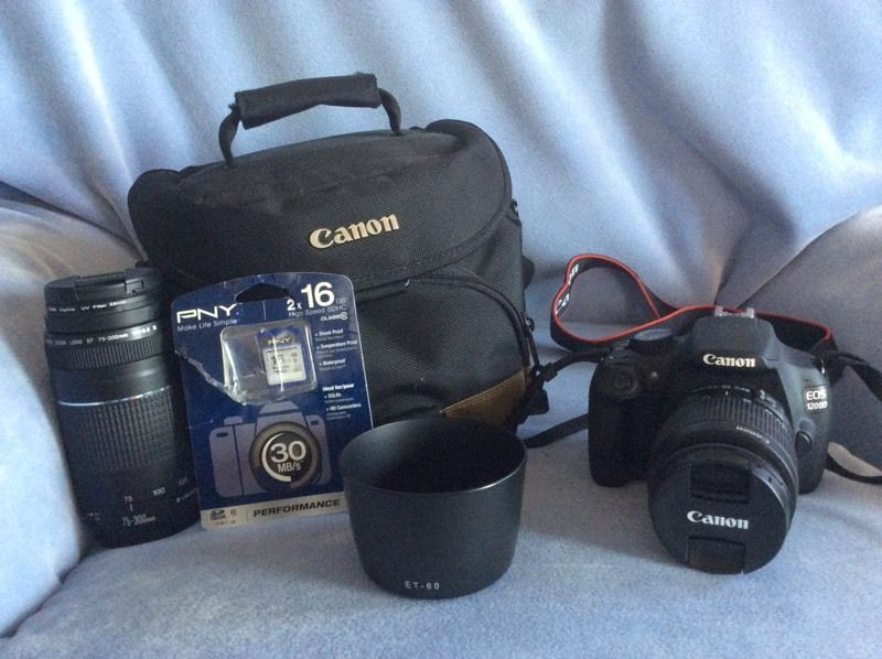 Canon EOS 1200D Digital Camera with 2 Lenses and Accessories