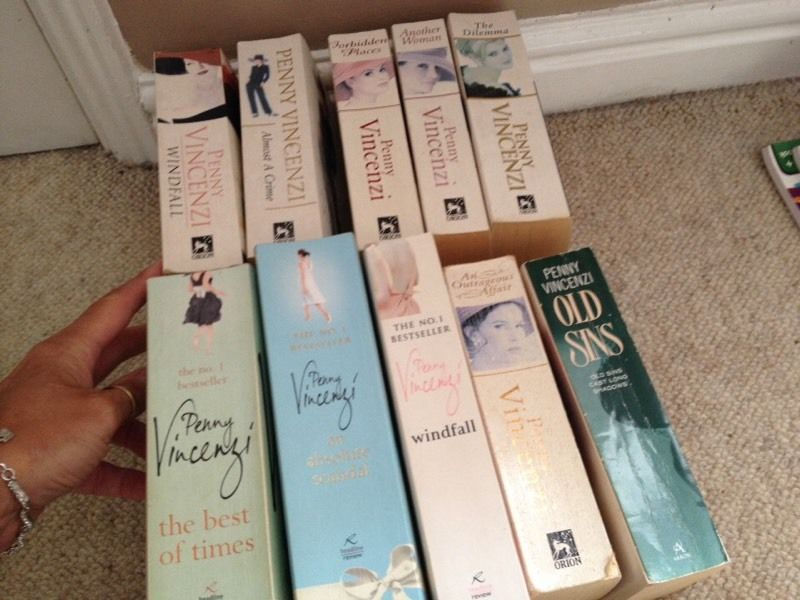 Penny Vincenzi and Danielle steel books