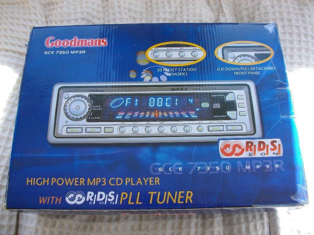 UNUSED GOODMANS HIGH POWER MP3 CD PLAYER/STEREO GCE7350 MP3R