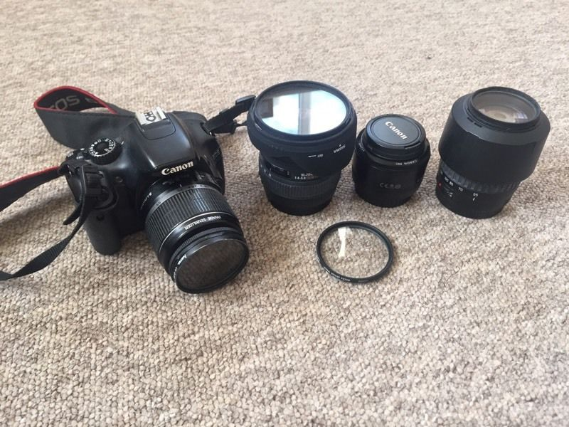 Canon 550d with 4 lenses