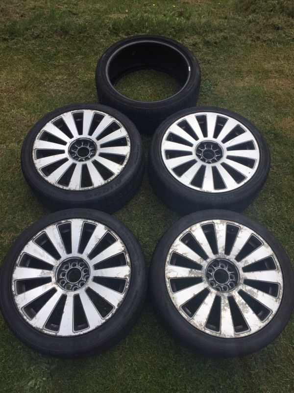 18 inch RS8 Alloy Wheels (with 5 tyres)