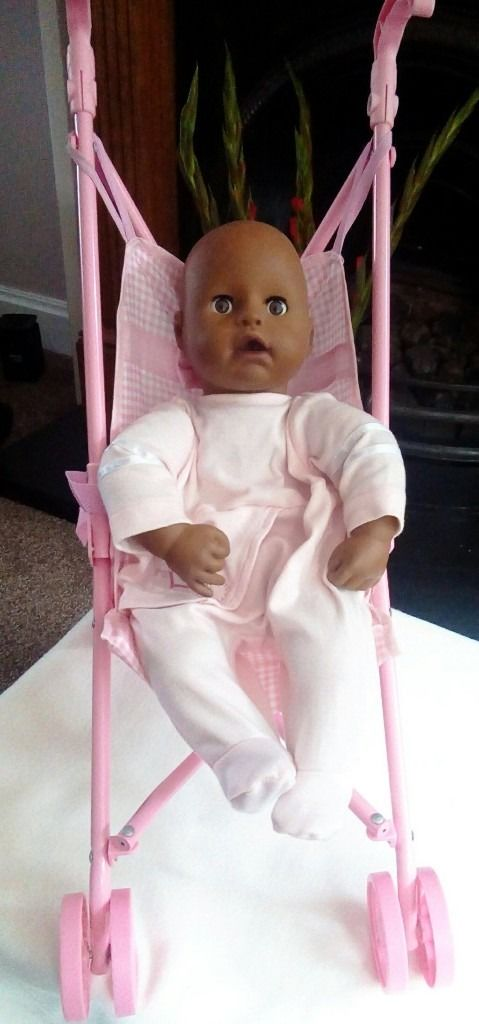 Baby annabell doll with pram