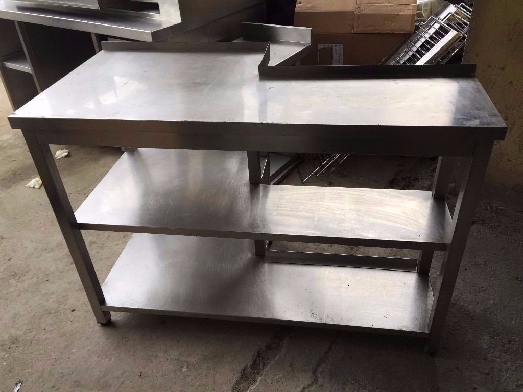 COMMERCIAL CATERING PREP TABLE/BENCH FOR FOOD PREPARATION CUISINE DINING RESTAURANT CAFE FASTFOOD