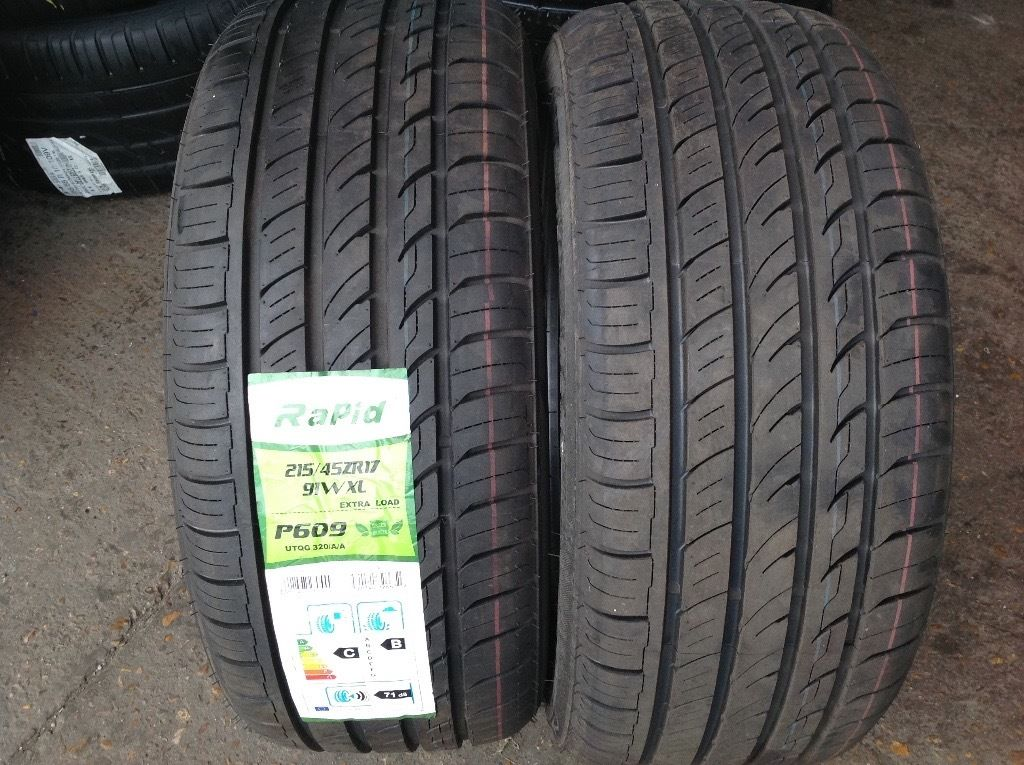 Part worn tyres/ new budget tyres /205/40/17- 215/45/17 / 225/45/17