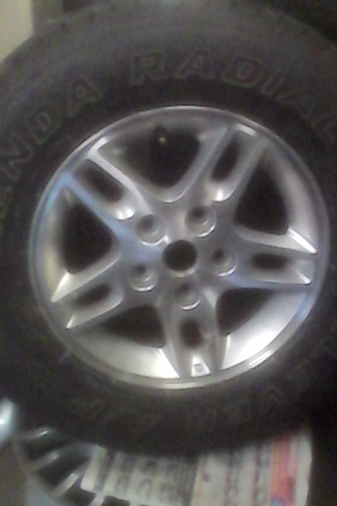 Jeep cherokee alloy and tyre
