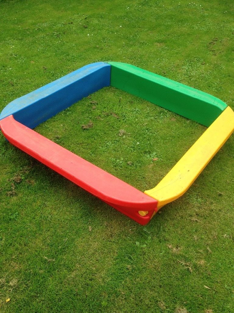For Sale garden toys: Kids sandpit, Kids Slide and Seesaw for sale