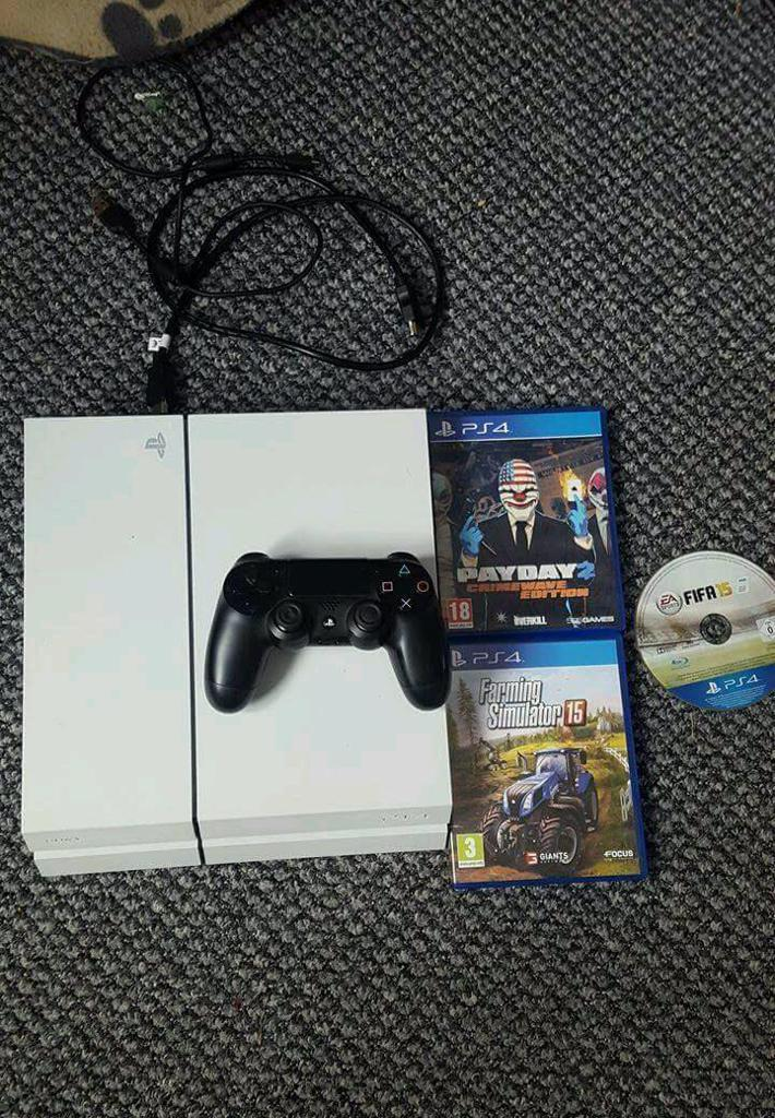 White ps4 bundle