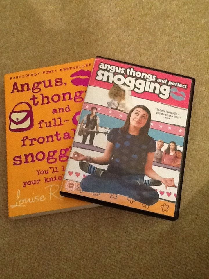 """""""Angus, thongs and full frontal snogging"""" book and DVD by Louise Rennison. Perfect condition"""