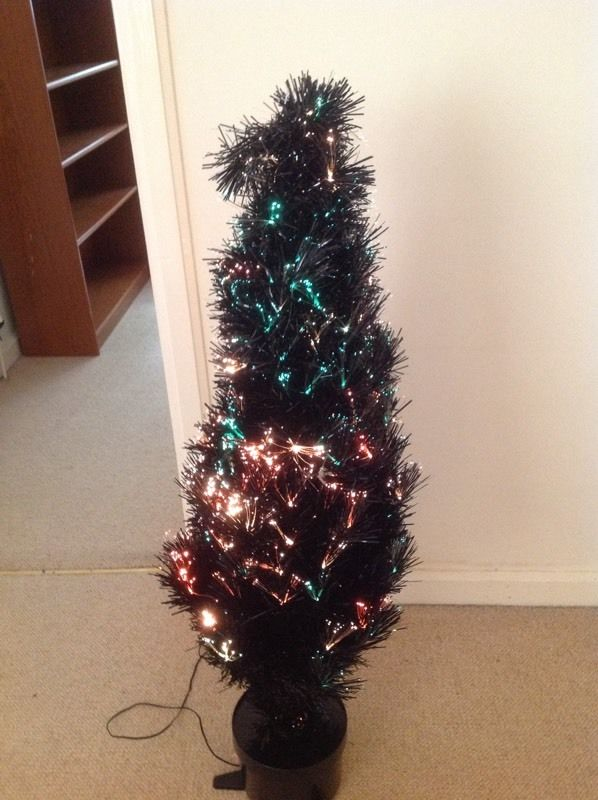 Fibre optic Christmas tree. 48""