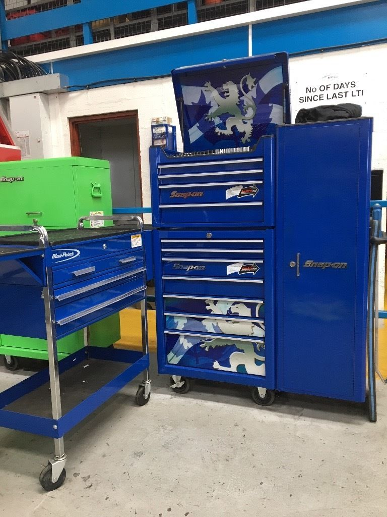 Snap on tool box, cabinet and tool cart