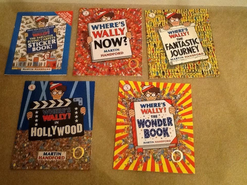 Where's Wally? SOLID GOLD Collection in original box with sticker book. Books in perfect condition
