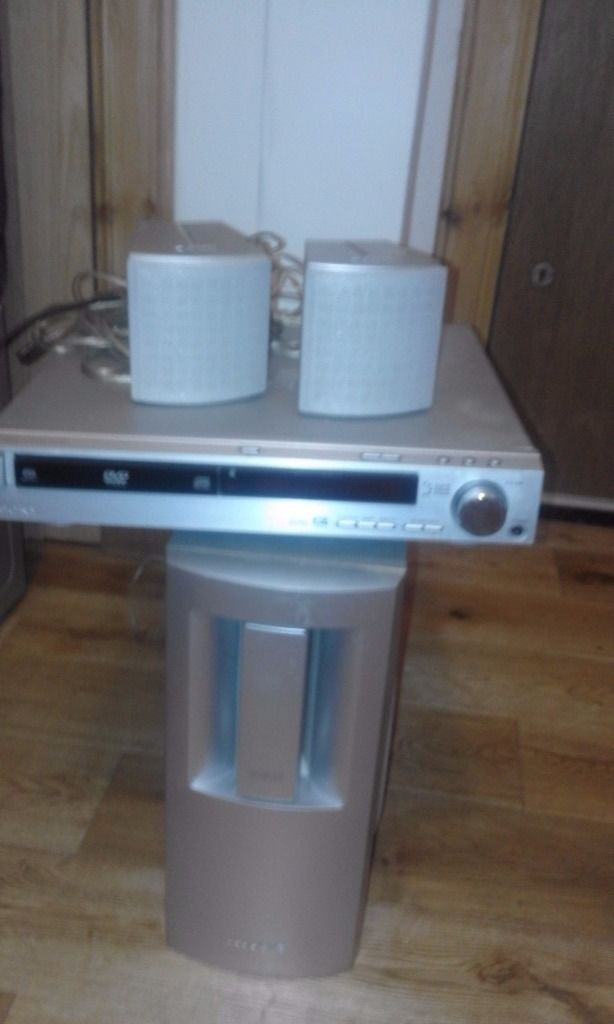 sony dvd with woofer and two speakers