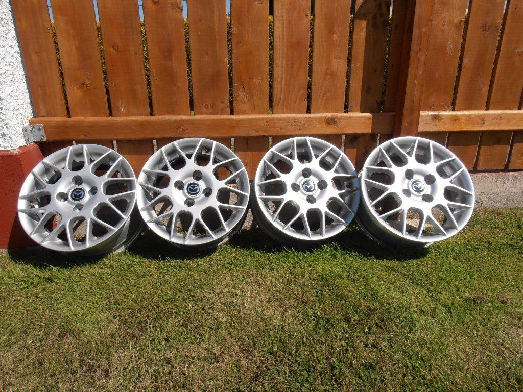 "Refurbished 14"" Mazda Alloy wheels (rims only) suitable for MX5 or 323F. Excellant condition."