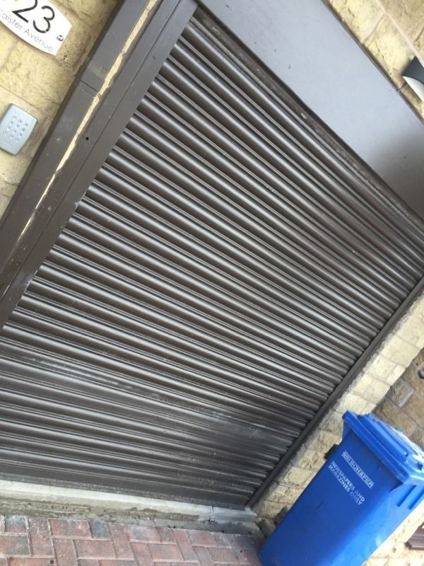 Roller shutter steel motorised
