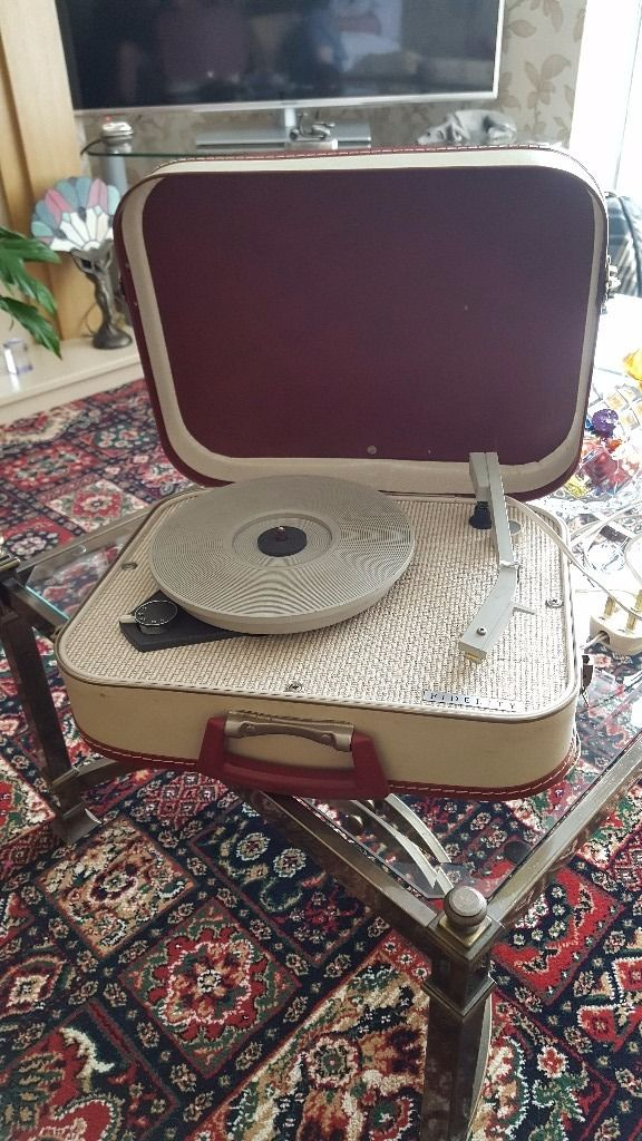 Portable suitcase record player