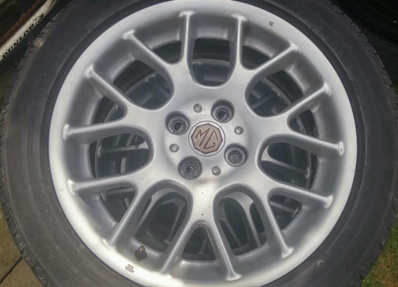 """MG 16"""" Alloys with tyres"""