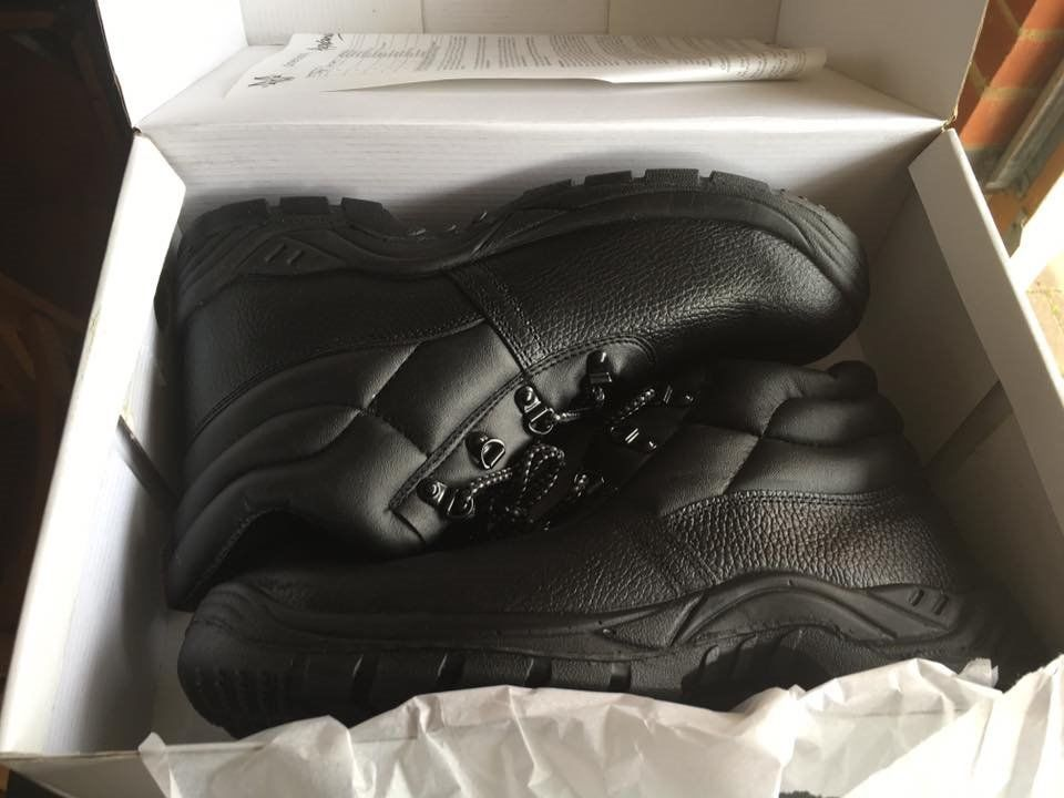 Steel toe capped safety boots