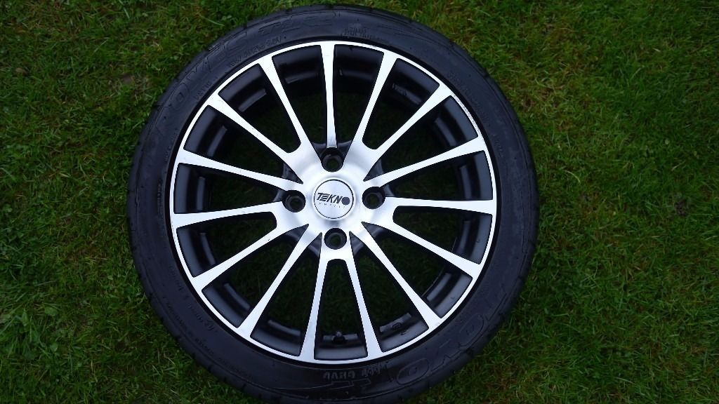 tekno alloys and toyo tyres barely used - spares