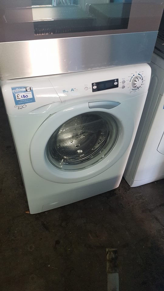 a677 white candy 8kg 1600 spin washing machine comes with warranty can be delivered or collected