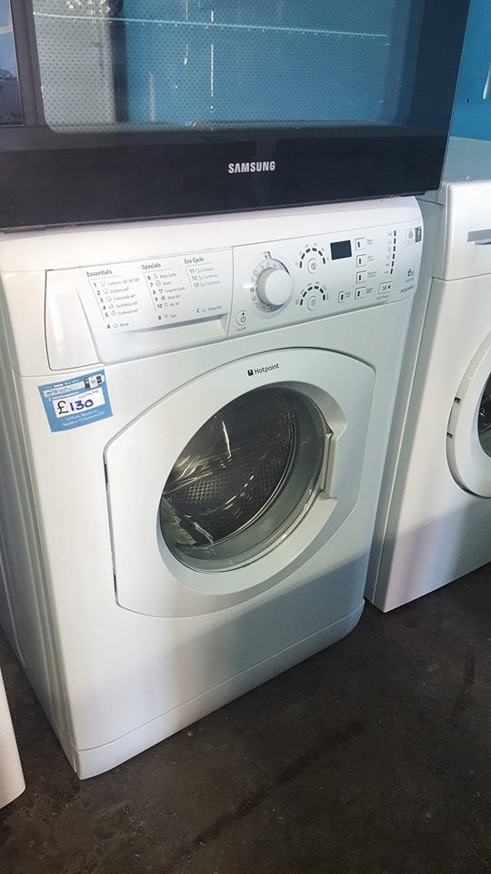 a678 white hotpoint 6kg 1400 spin washing machine comes with warranty can be delivered or collected