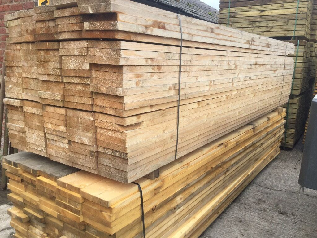 """Treated timber, wooden pieces fence panel 4"""" X 2"""" timber, rails @ 12ft lengths"""
