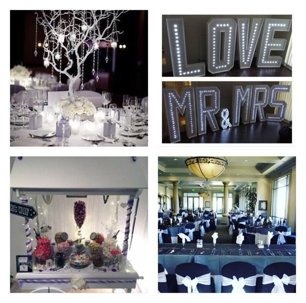 Bespoke Wedding & Event Decor Service (centrepieces/4ft led love mr&mrs/candy cart/chair covers)