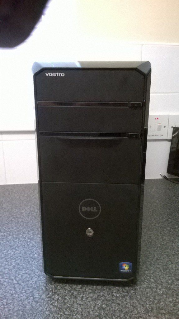dell i7, 8 gb ddr3 ram. 1tb hard drive. 550w power supply. HDMI.