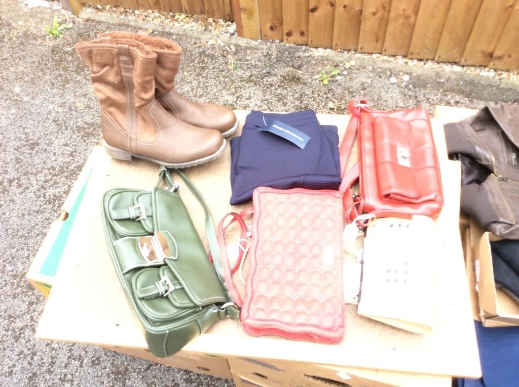 Wholesale job lot of clothes, shoes & bags all in great condition.