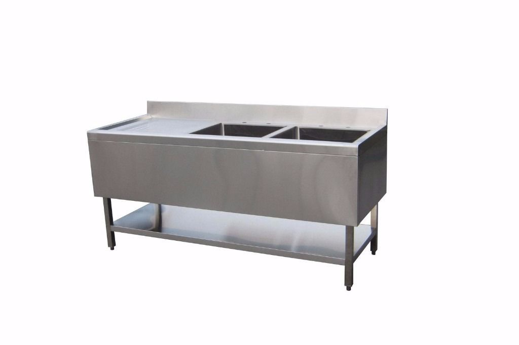 Sink 1.5m double bowl LEFT DRAINER