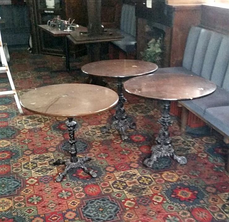 3 Wrought iron tables