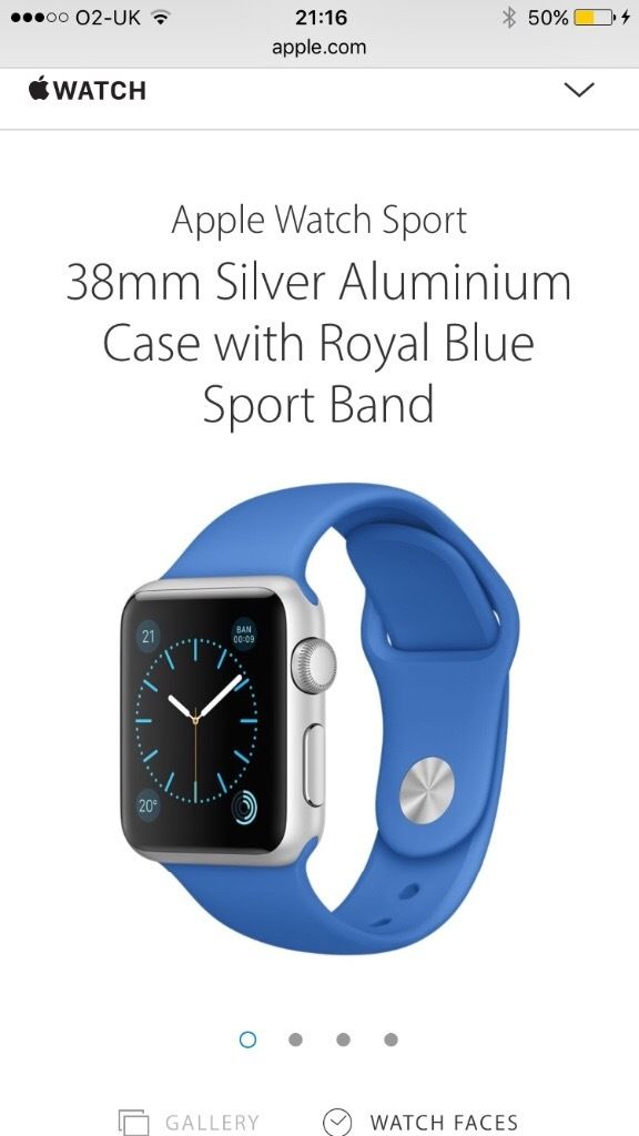New Apple 38mm Watch - Sport Royal Blue - Unwanted Gift - boxed with all accessories never taken out