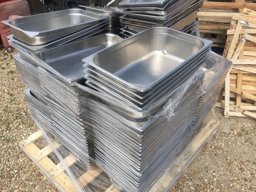 Stainless Steel Gastronorm 1/1 Trays 10cm deep or 15cm deep