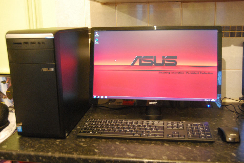 "Asus Essentio Desktop PC, Intel Core i5-3340S @ 2.80GHz, 5GB Ram, 500GB HDD, GeForce GT530, 21.5""LED"