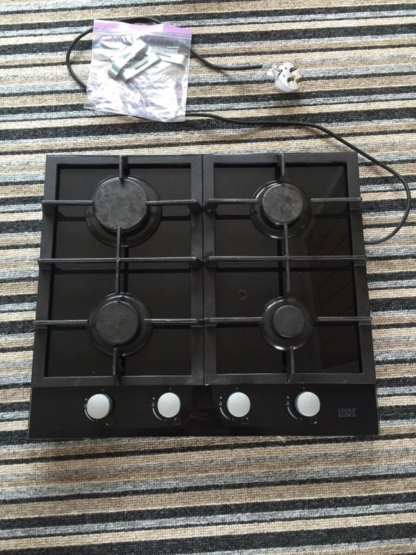 Gas hob - 4 rings - Cooke & Lewis brand - 18 months old