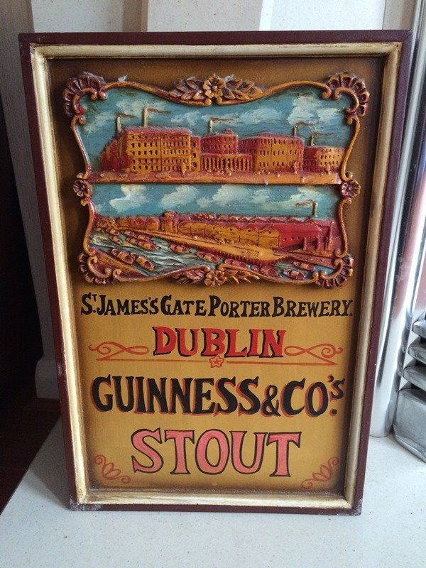 Guinness St James' Gate Porter Brewery - Reproduction Sign - VGC