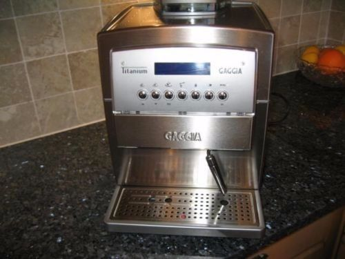 Gaggia Titanium Espresso Coffe Machine Bean to Cup