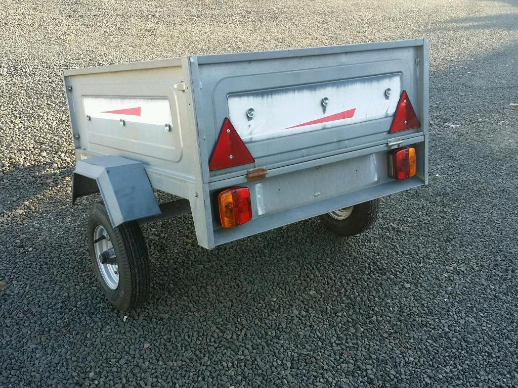 Erde 102 car tipping trailer with brand new wheels and tyres