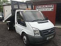 2007 (57) FORD TRANSIT 100 T350 2.4TDCi DROPSIDE TIPPER TRUCK (ONE STOP BODY)