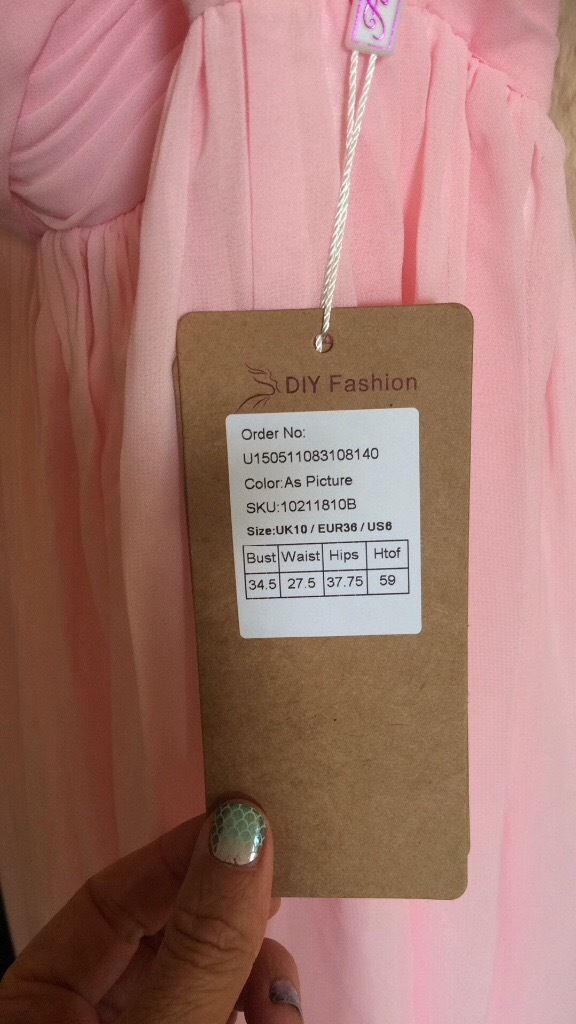 x2 Beautiful Matching Pink Bridesmaid Dresses, Size 10, one worn, one unworn with tags.