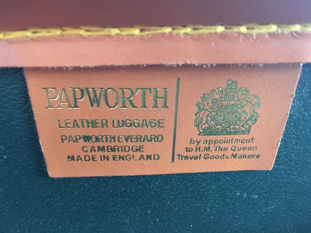 Genuine Papworth leather briefcase